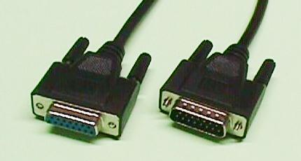 Cable DB15 m-h, 2 m