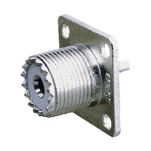 Conector PL hembra panel