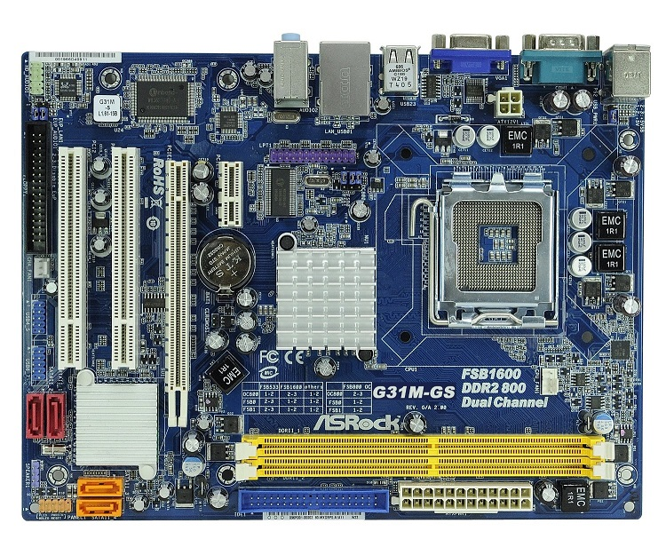 Placa Base ASROCK G31M-GS3 s775 VGA
