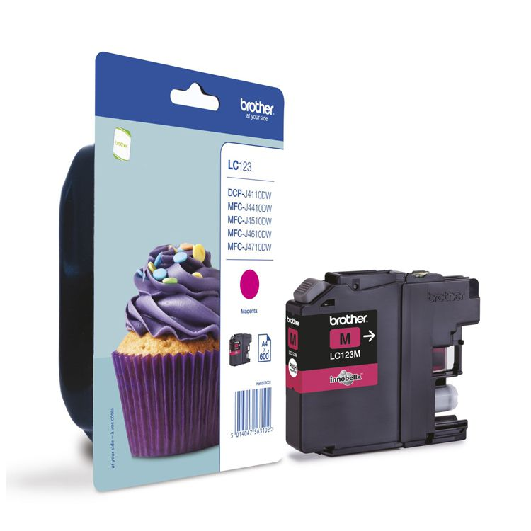 Tinta BROTHER LC123M Magenta