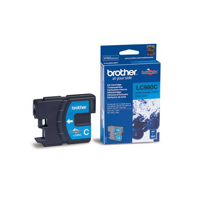 Tinta BROTHER LC980C Azul