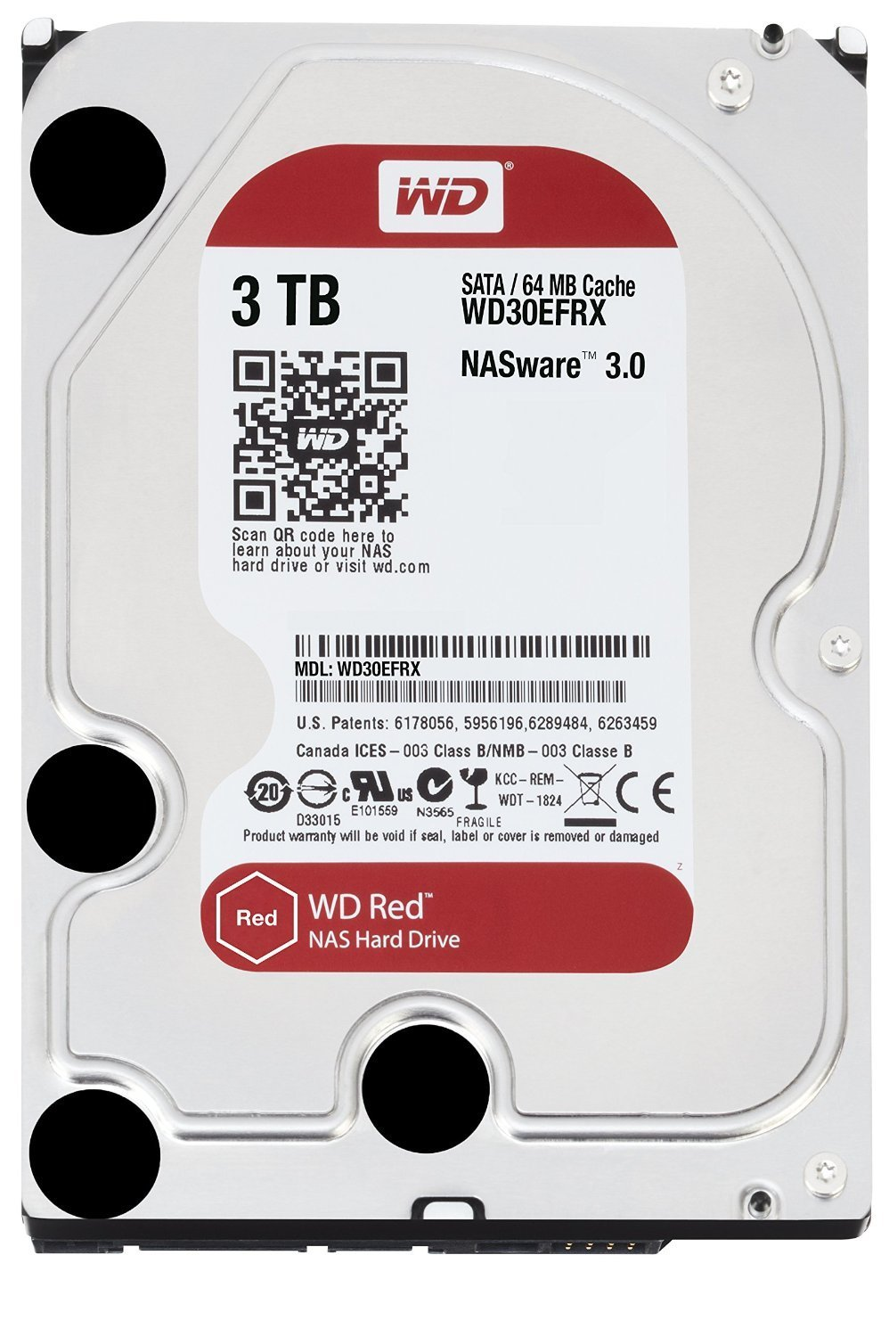 Disco Duro 3,5´´ 3TB SATA-III WD RED 6GB/s 64Mb