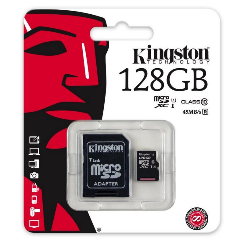 Memoria MICRO SD 128GB KINGSTON Clas.10