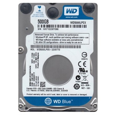 Disco Duro 2,5´´ 500GB SATA-III WD Blue 8MB 5400rpm