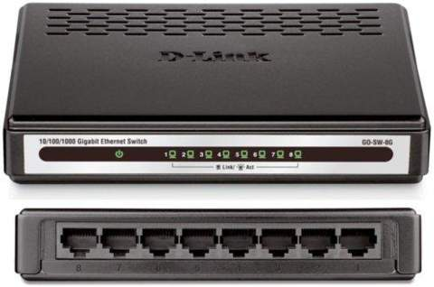 Switch 8p D-LINK GIGA