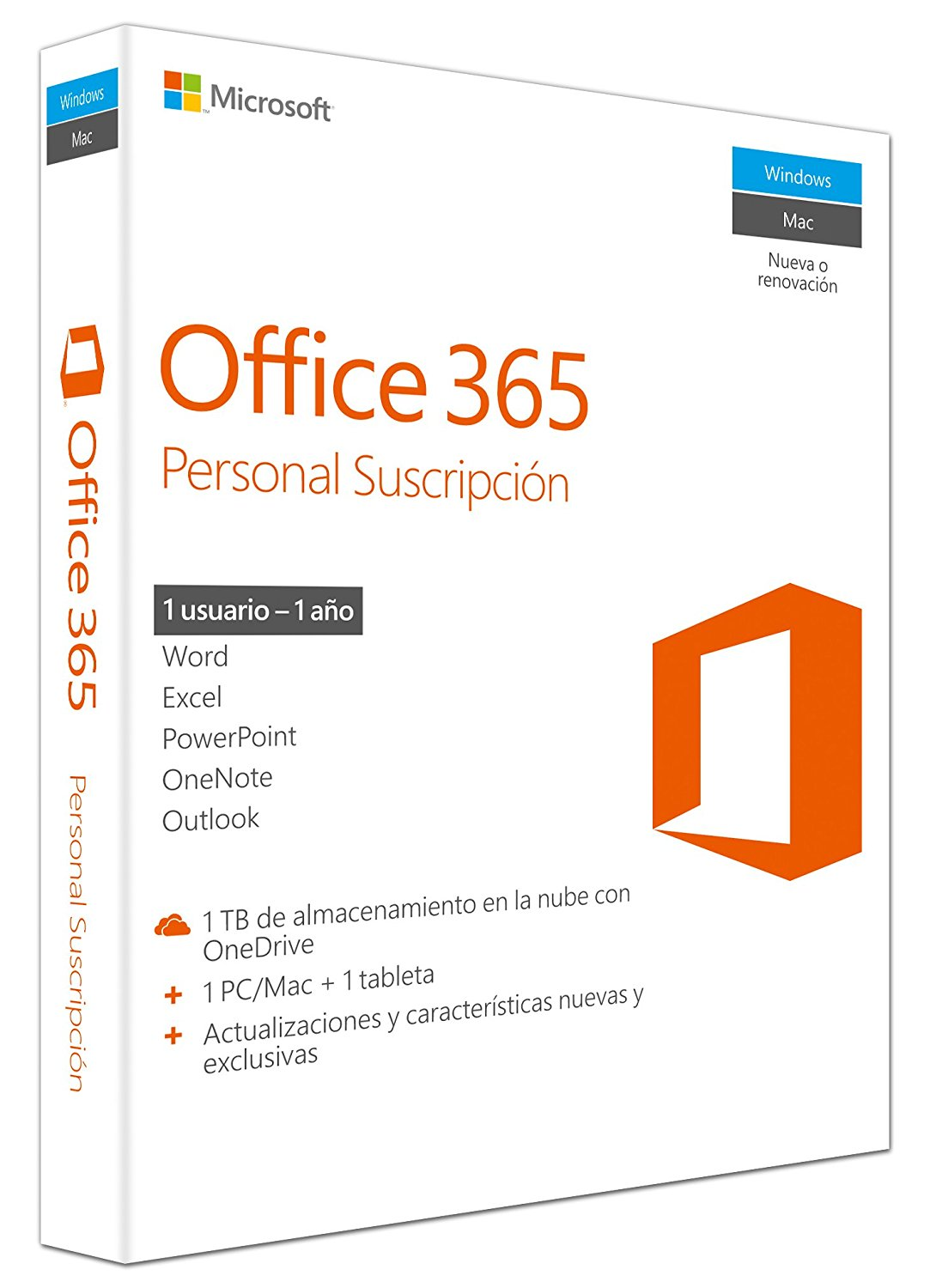 Microsoft OFFICE 365 Personal - Licencia 1 PC