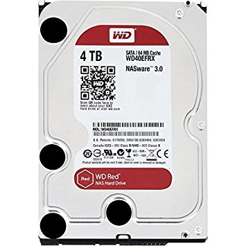 "Disco Duro WD 3,5"" 4TB SATAIII 64MB RED"