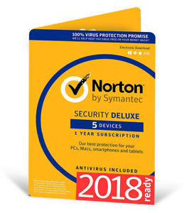 Antivirus NORTON SECURITY DELUXE 5PC 1Y