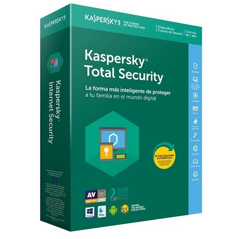 Antivirus KASPERSKY Internet Security - Licencia 3 Usuarios [2018]
